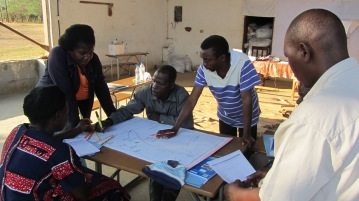 Community Mapping during Capacity Building Training