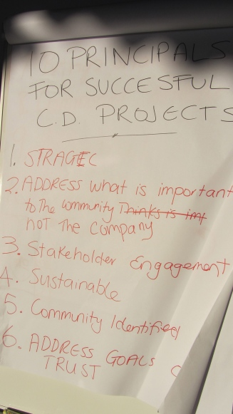 Principals for Successful community development projects