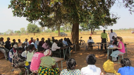 Village Headman Meeting with Gabriella to share concerns over project delays