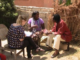 Interviewing Safe Motherhood Action Group (SMAG) Volunteers, Kalingalinga, Zambia