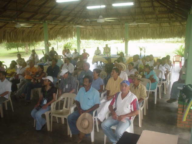 BHP Billiton Meeting with community leaders at Peurto Libertador, Colombia